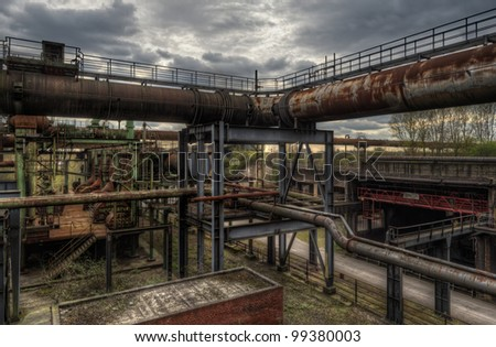 old pipes - stock photo