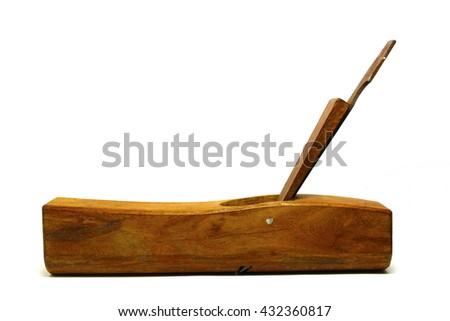 Old plane, isolated on a white background - stock photo
