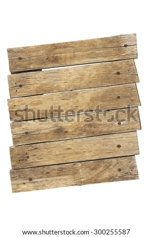 Old planks isolated on white - stock photo