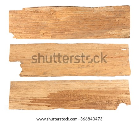 Old planks taxture isolated on white - stock photo