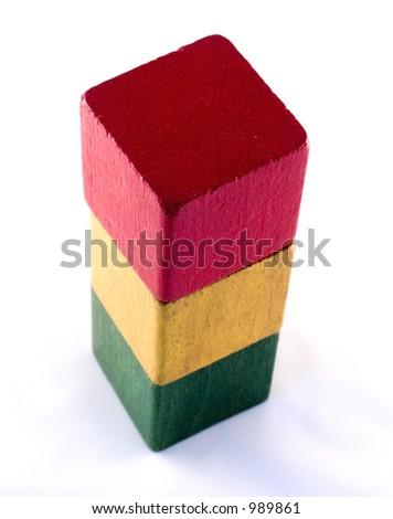 Old play blocks - stock photo