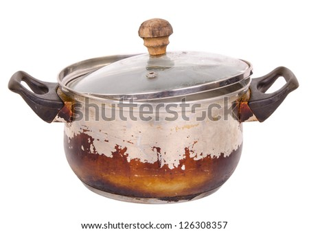 Old pot - stock photo