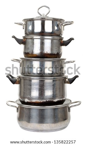 Old pots - stock photo
