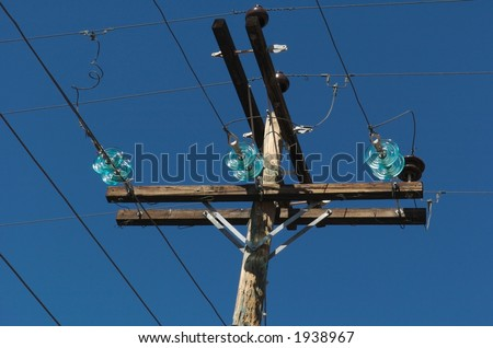 Old Power Lines - stock photo