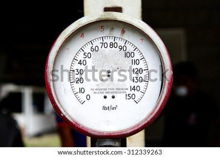 Old Pressure Meter - stock photo