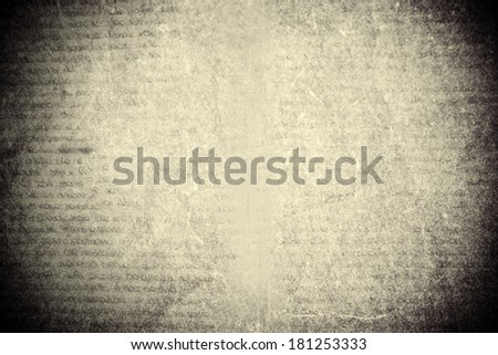 old printed page texture - stock photo