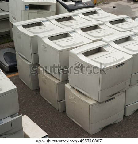 Old printers - stock photo