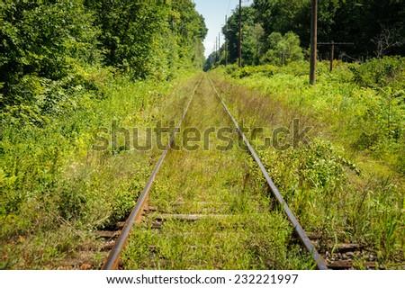 Old railroad - stock photo