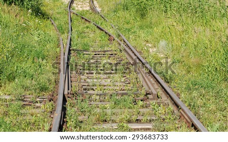 Old railway track - stock photo