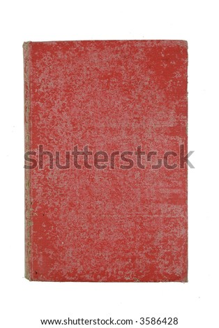 old red book isolated on white - stock photo