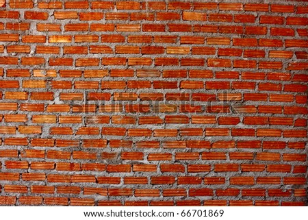 Old red brick wall pattern - stock photo