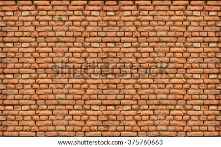old red brick wall texture - stock photo