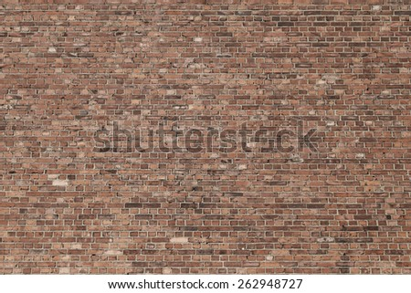 old red brick wall texture grunge background to interior design - stock photo