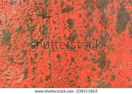 Old red on iron, You can use background - stock photo