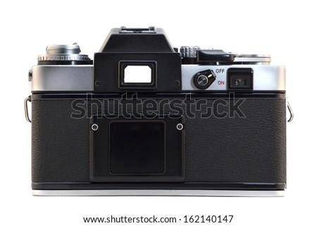 Old reflex camera - stock photo