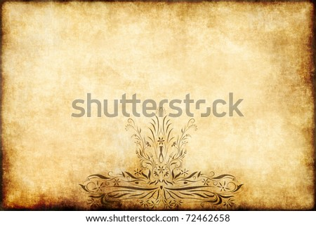 old regal style design on parchment paper - stock photo