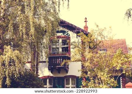 Old Restored Residential House in Berlin  - stock photo