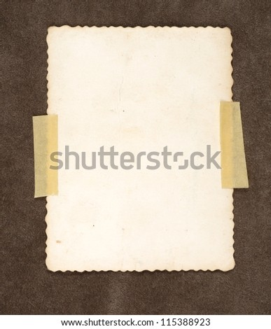 Old retro instant film transfer photo reversed on brown background - stock photo