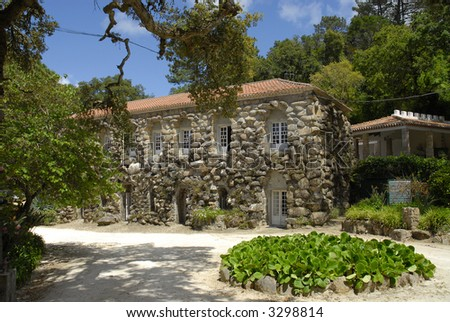 Old rocky house, Sintra-Portugal - stock photo