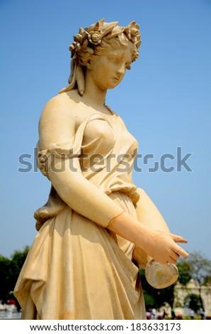 Old Roman Style Statue. - stock photo
