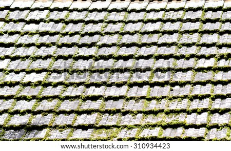 Old roof pattern - stock photo