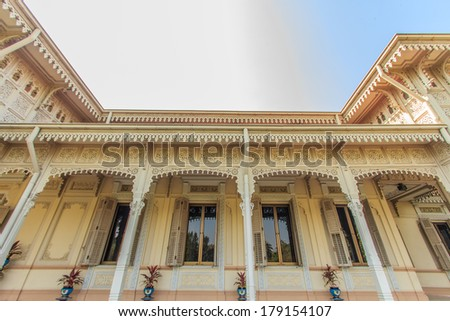 Old roof  style Thailand  - stock photo