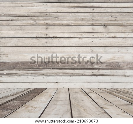 old room, wooden wall, vintage background - stock photo
