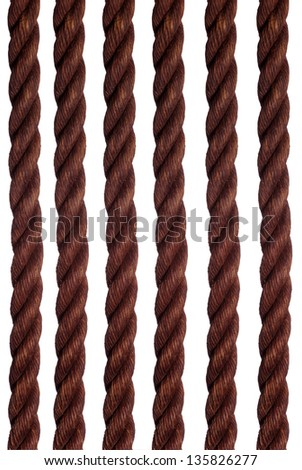 old rope - stock photo