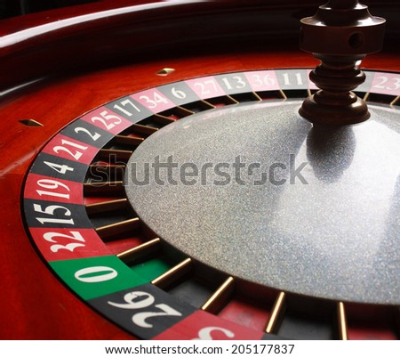 Old Roulette wheel. casino series. studio shot - stock photo