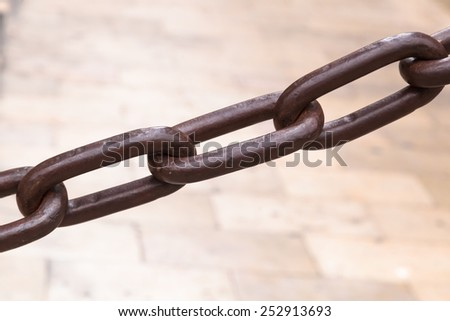 old rusted iron chain - stock photo