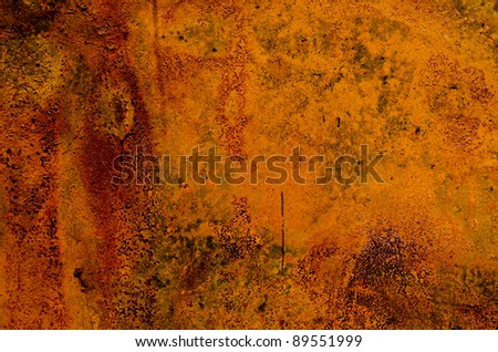 old rusted tin background and texture - stock photo