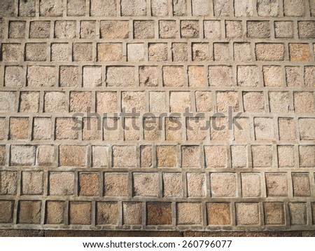 Old rustic grunge stone wall - stock photo