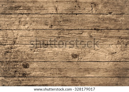 Old rustic wood background. Copy Space for your ad or message. Wooden Table - stock photo