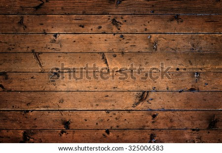 Old rustic wooden surface with horizontal planks - stock photo