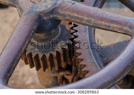 Old Rusty Cogs - stock photo