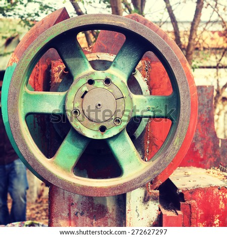 Old Rusty heavy industry - Instagram filter - stock photo