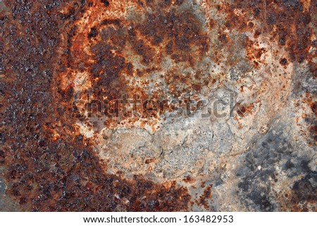 Old rusty metal texture - stock photo
