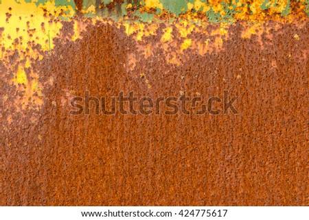 Old rusty sheet metal. Old rusty sheet metal. Texture. Closeup - stock photo