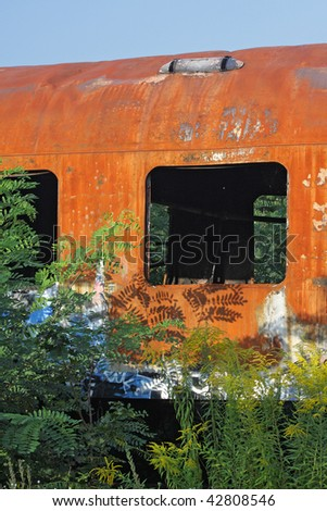 old rusty wagon - stock photo