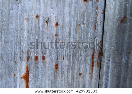 old rusty zinc texture - stock photo