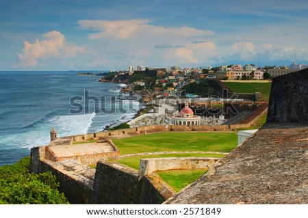 Old San Juan at Puerto Rico - stock photo