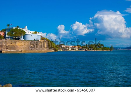 Old San Juan port - stock photo