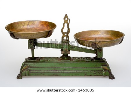 Old scale - stock photo