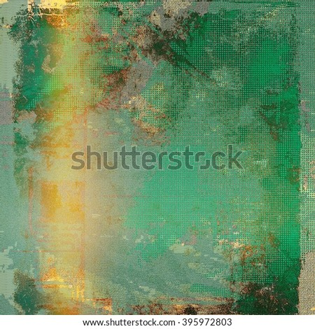 Old school aged texture or background for retro grunge design. With different color patterns: blue; green; yellow (beige); brown - stock photo