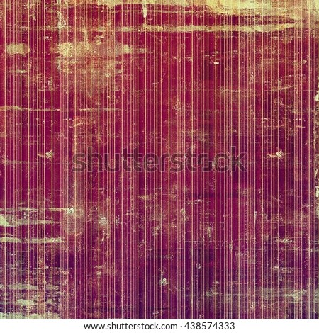 Old school frame or background with grungy textured elements and different color patterns: yellow (beige); brown; red (orange); purple (violet); pink - stock photo