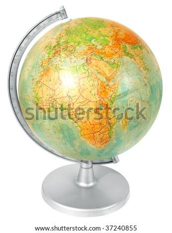 Old school globe - stock photo