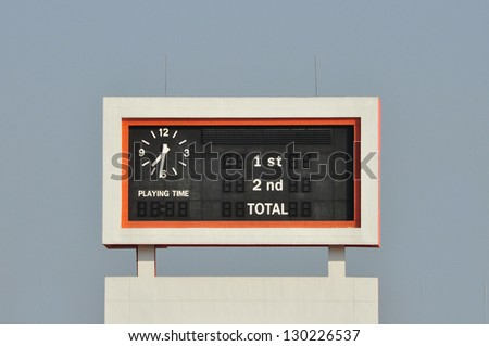 old scoreboard - stock photo