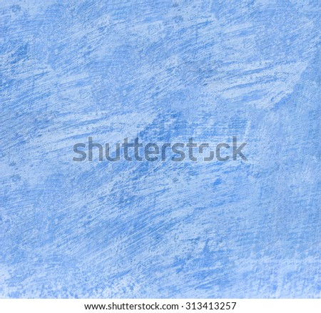 Old scratched blue wall texture, background surface. - stock photo