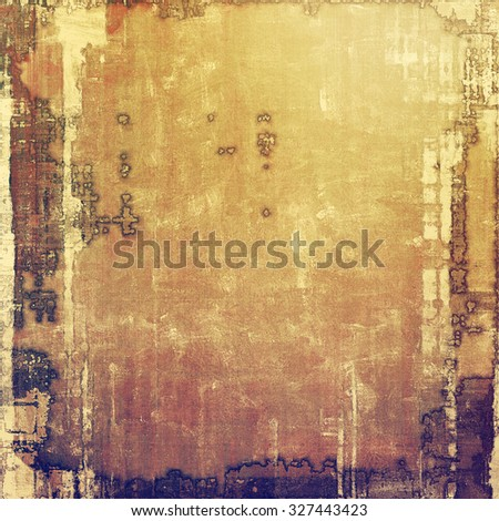 Old scratched retro-style background. With different color patterns: yellow (beige); brown; gray; purple (violet) - stock photo