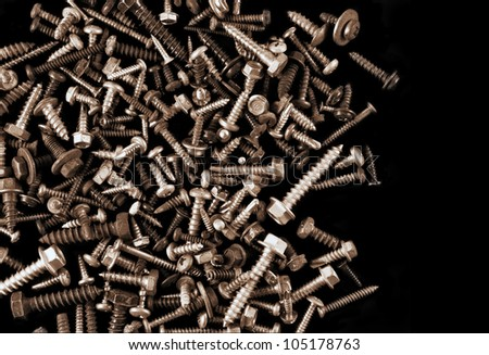 Old Screws and Bolts - stock photo